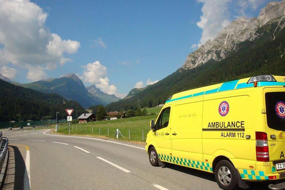 DK Ambulancetjenestes liggende sygetransport
